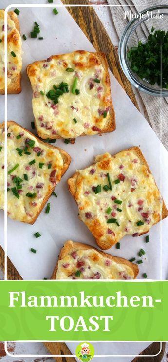 Flammkuchen Toast mit Speck und Zwiebeln #frühstückundbrunch