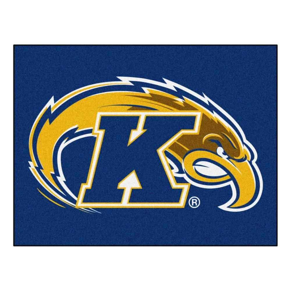 Kent State Golden Flashes Blue Tufted Area Rug