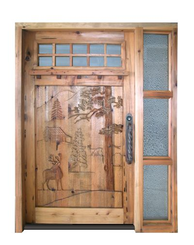 Carved Rustic Exterior Steel Doors For Homes Home
