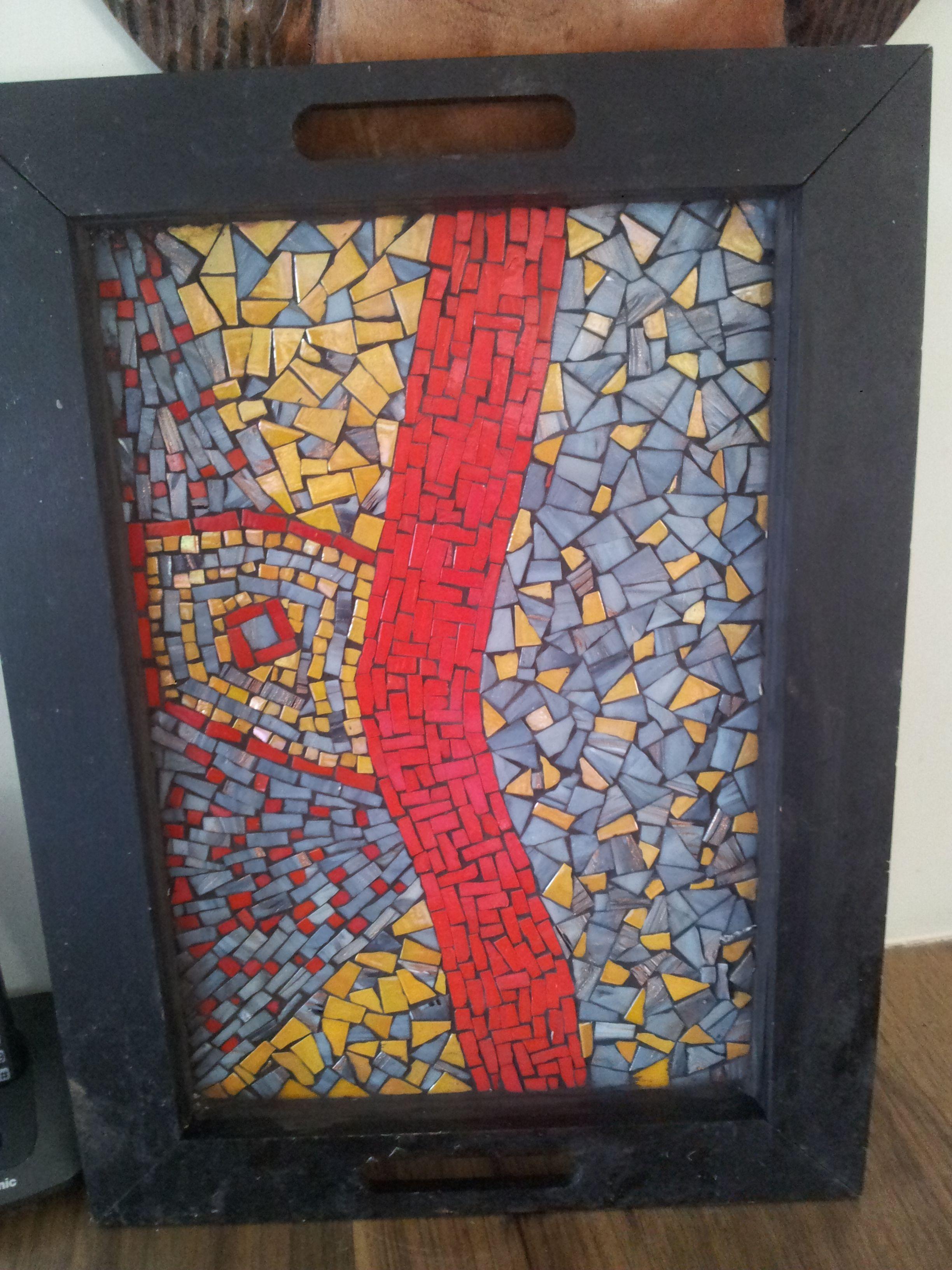 Tray - Abstract - Mosaic