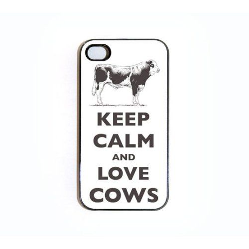 Amazon.com: iPhone 4/4s Case Keep Calm And Love Cows: Cell Phones & Accessories