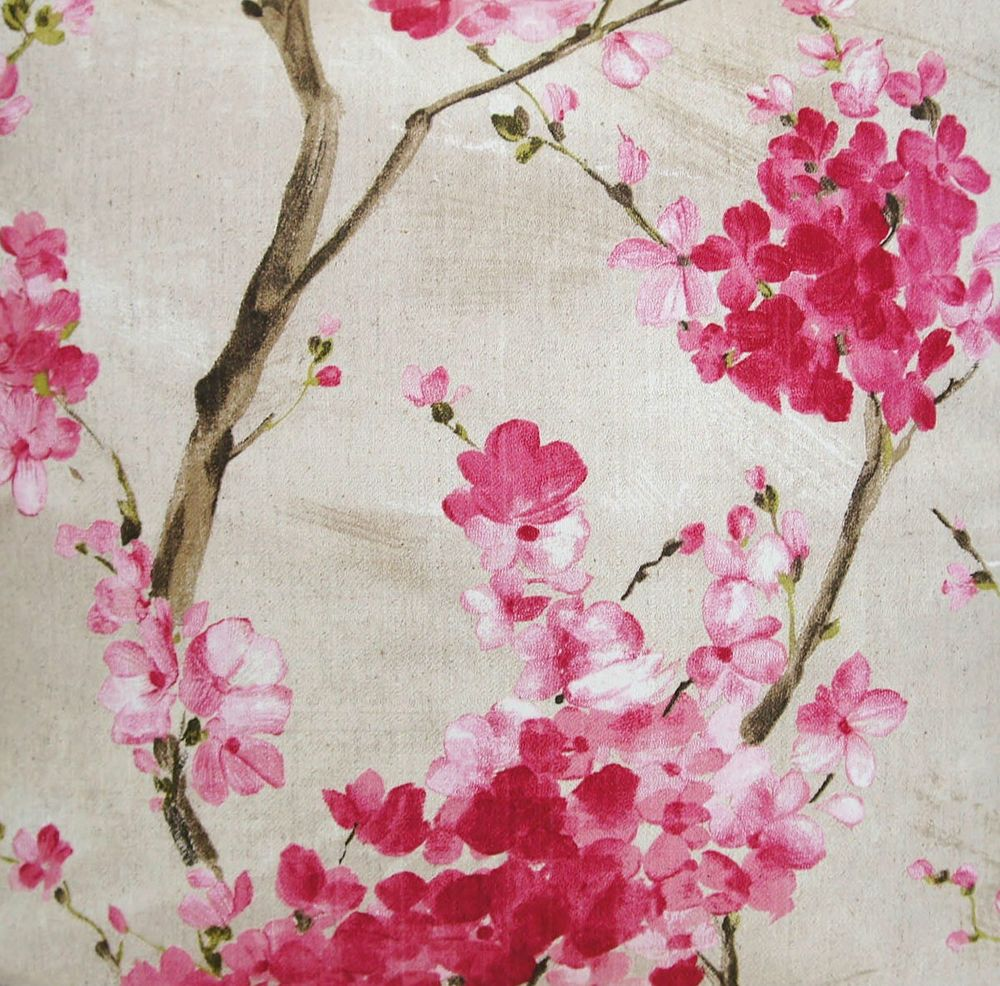 Floral fabric material pink cherry blossom grey cotton printed floral fabric material pink cherry blossom grey cotton printed sold by metre dhlflorist Image collections
