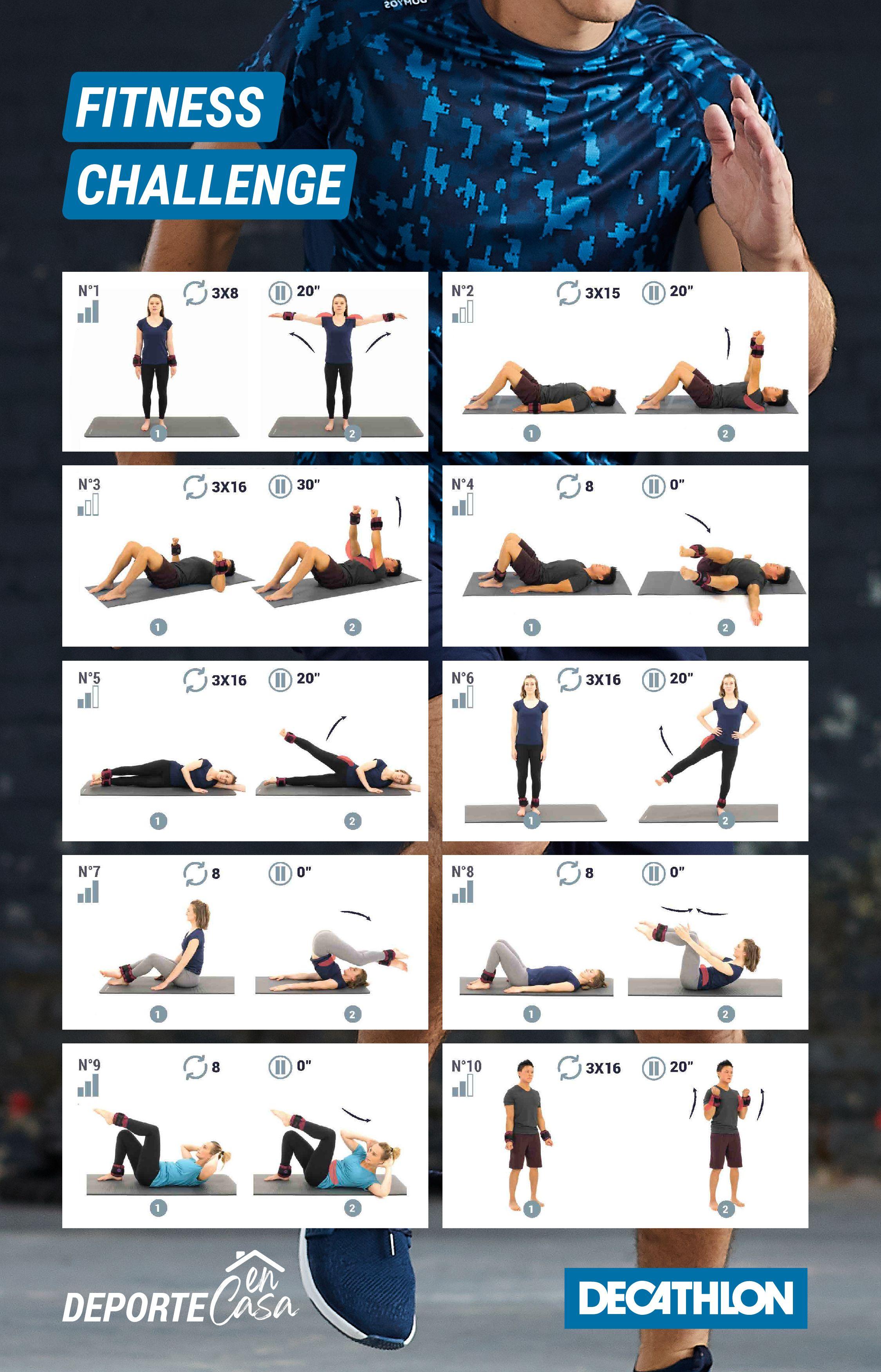Tonifica Tu Cuerpo Desde Casa Desafíos De Fitness Ejercicios Decatlón