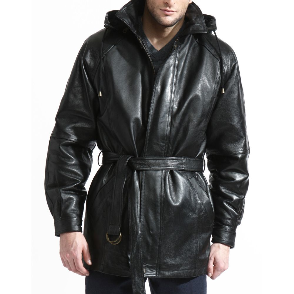 Our Best Men S Outerwear Deals Leather Jacket With Hood Leather Coat Leather Trench Coat [ 1000 x 1000 Pixel ]