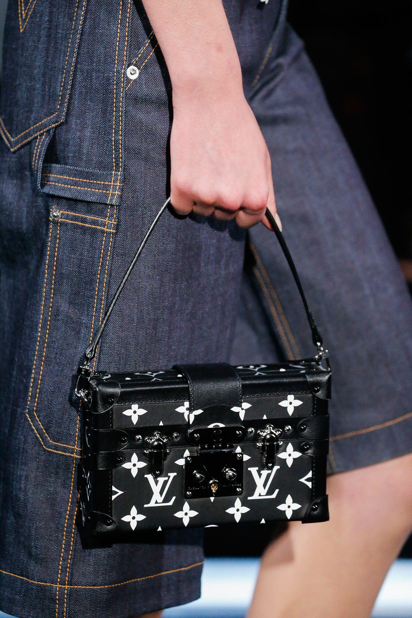 c4e9231a363a 🔱yellow dιaмond🔱 Louis Vuitton Black Monogram Canvas Petite Malle Bag -  Spring 2015