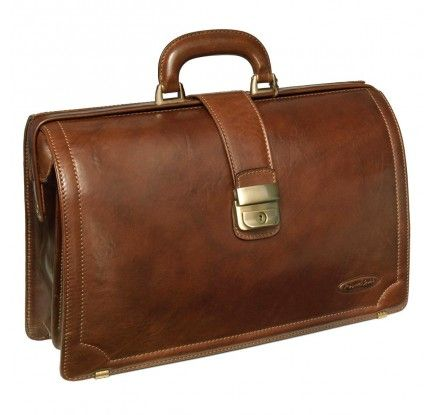 """Maxwell ScottLawyer's Brown Leather Briefcase (Basillo)BriefcaseSP""""Old school doctor's bag that will impress everyone, including your actual doctor"""".$464 http://us.maxwellscottbags.com/business/leather-briefcases/basilio-leather-briefcase.html"""