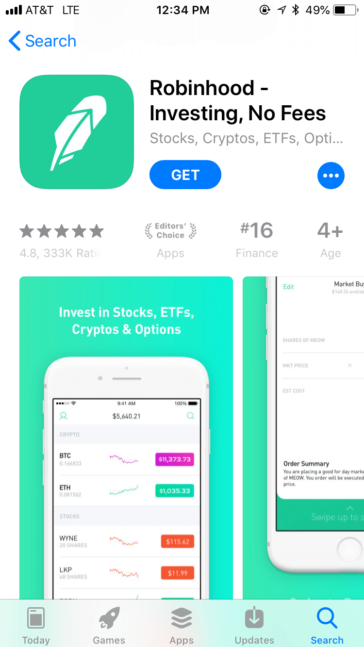 Robin Hood The Best Online Investing App Investing