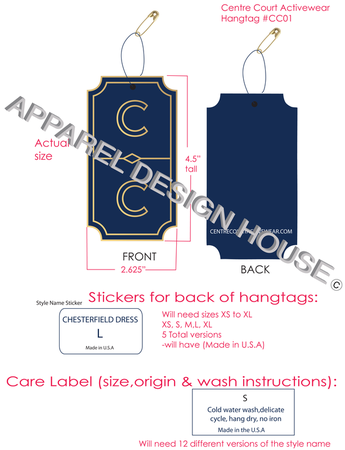 Details Designing Hang Tags For A Client Freelance Fashion