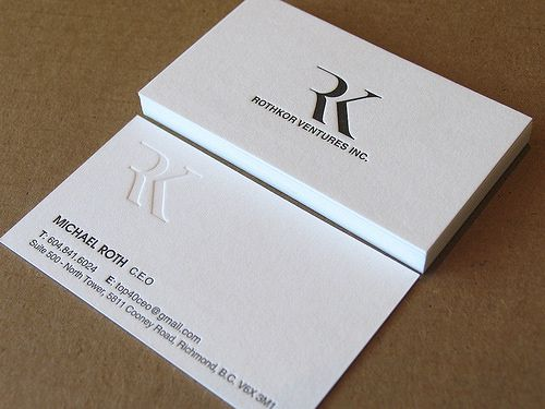 Creative Examples Of Letterpress Business Cards Design