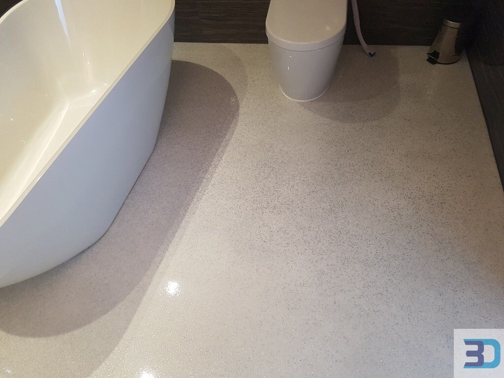 Resin Flooring White Bathroom Decor With A Seamless White With