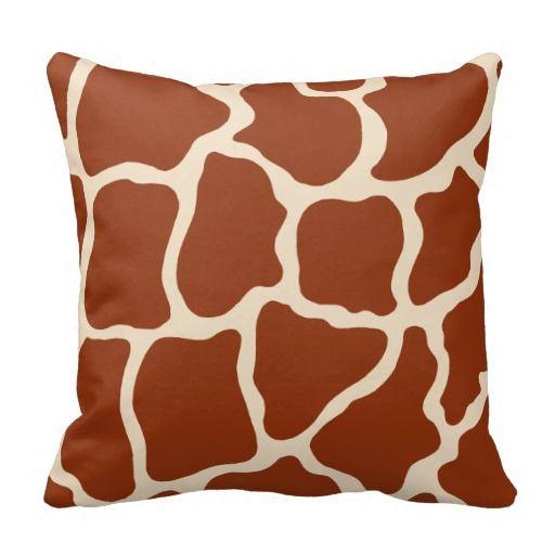 Giraffe Print Pillow Zazzle Com Printed Pillow Pillows Throw Pillow Styling