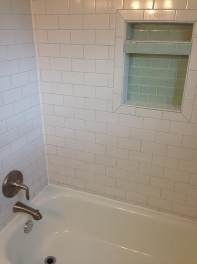 Tile Redi Redi Niche 16 In W X 20 In H X 4 In D Shampoo Soap Standard Double Niche Rn1620d Bi The Home Depot Tile Ready Shower Niche White Subway