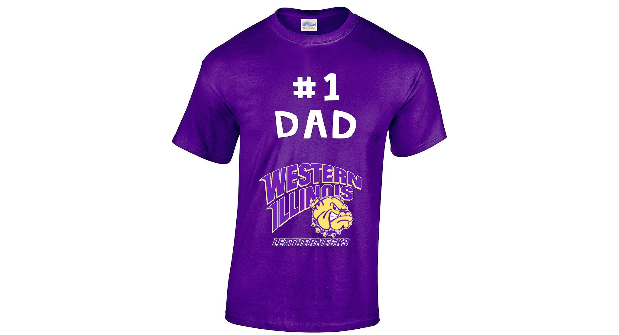 buy online f1027 540ae 1 Dad T-shirt - Western Illinois University - Purple & Gold ...
