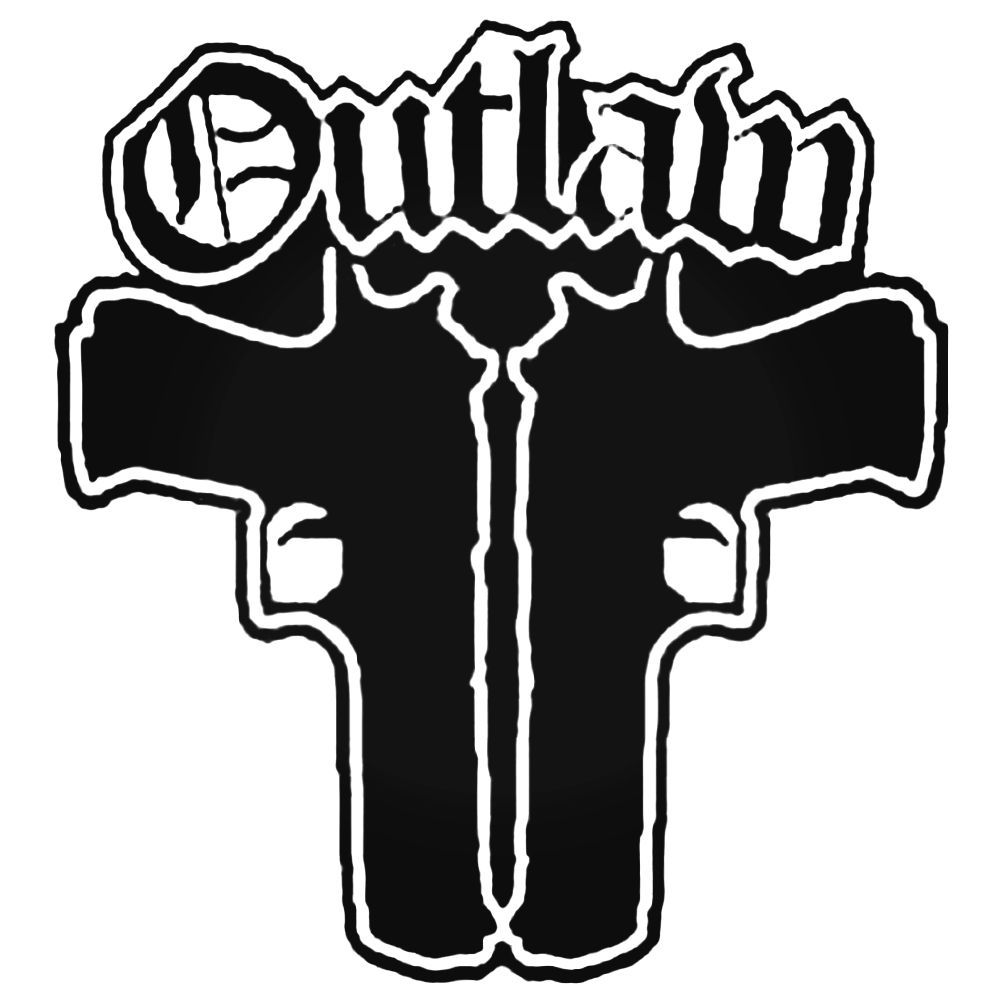 Outlaw guns thug life decal sticker ballzbeatz com