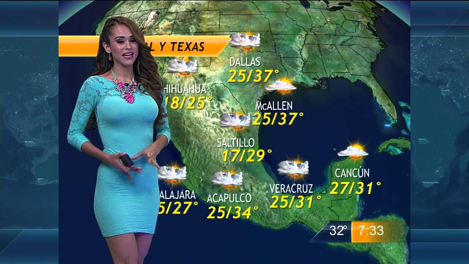 Yanet Garcia y el pronostico del Clima Las Noticias Fin De ...