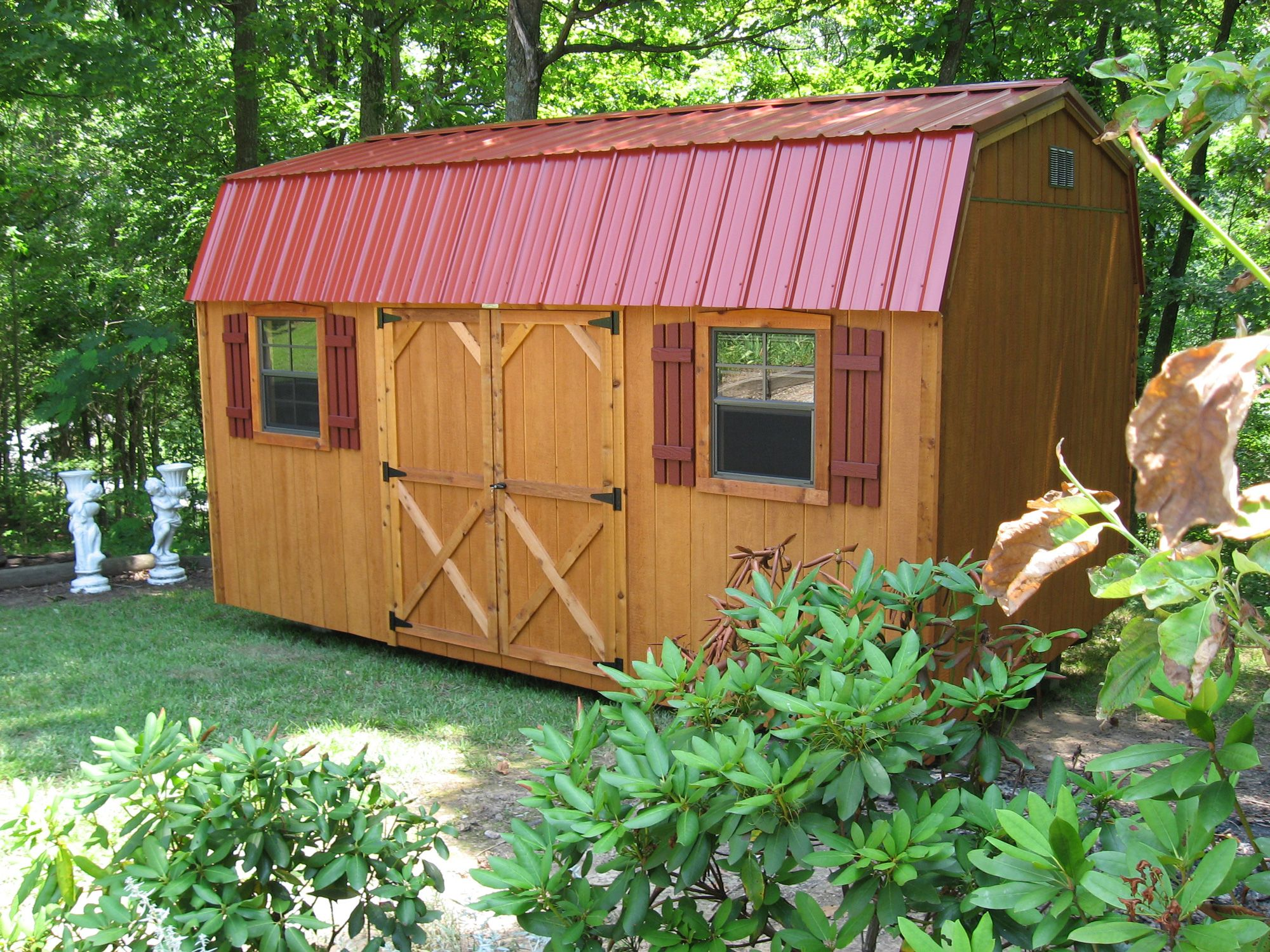 Deluxe with dormer transom windows and cupola - Deluxe Storage Shed