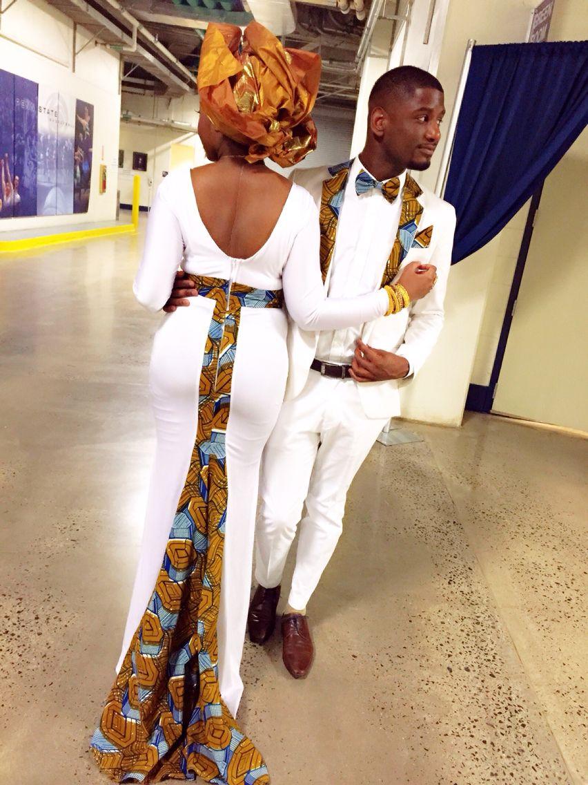 boy and girl couple wearing matching ankara print | Color ...