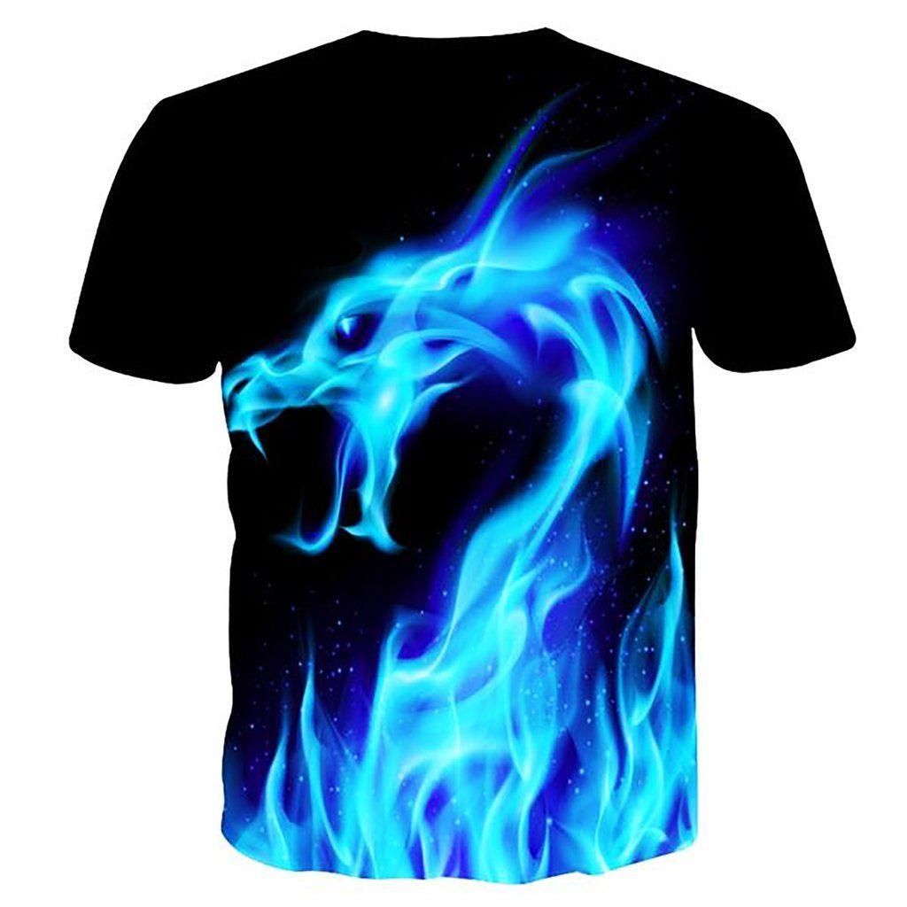 b7b04a102c5 Bluefire Dragon Shirt | K | Shirts, Printed shirts, 3d t shirts