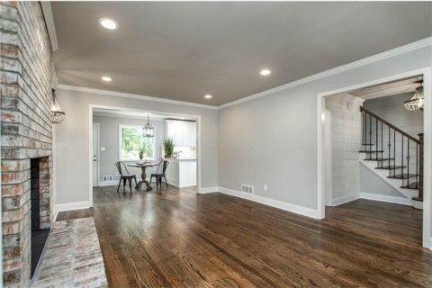 Jaw Dropping Total Home Renovation Project Wood Floor