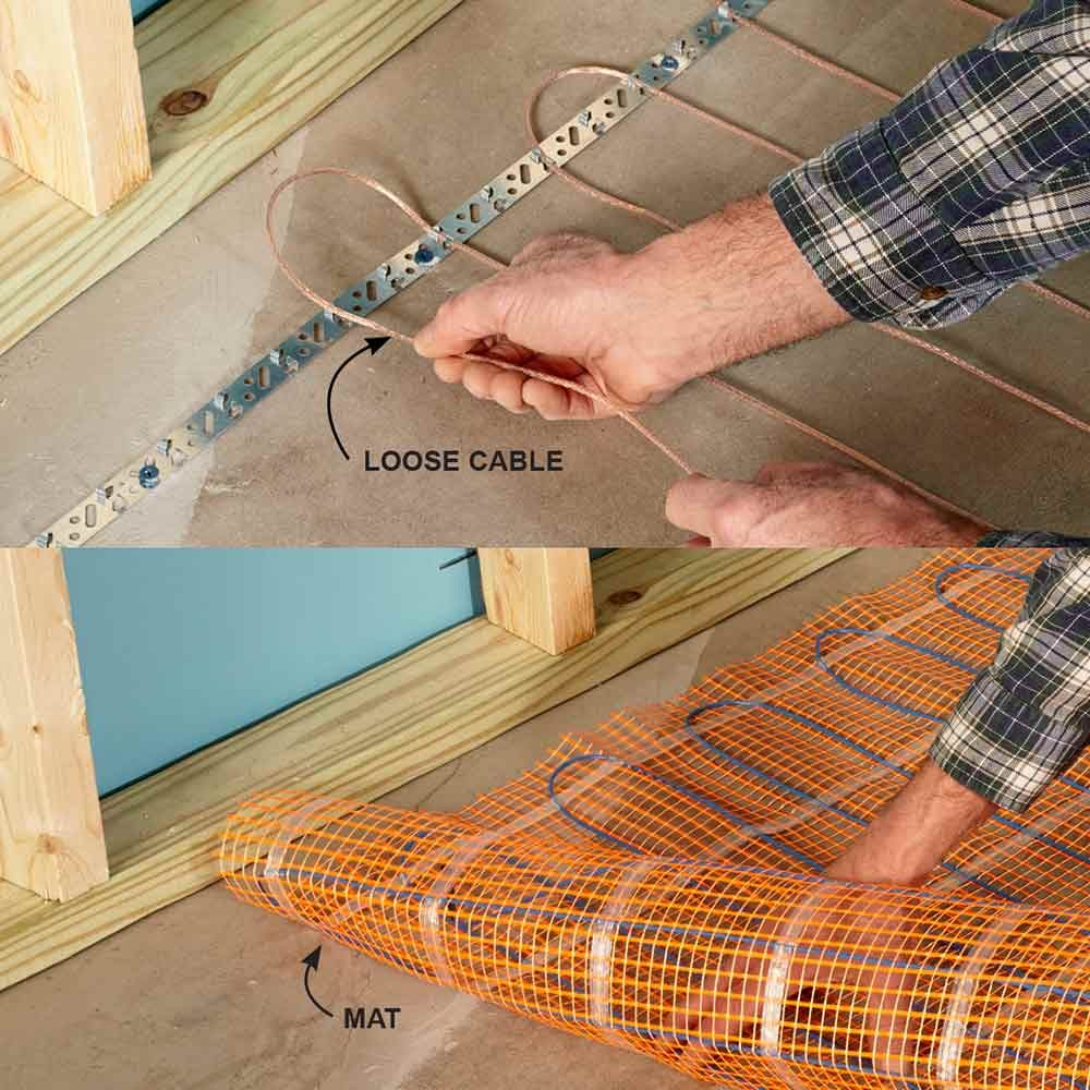 Warm Up Cold Floors With Heating Cables   14 Basement Finishing Tips
