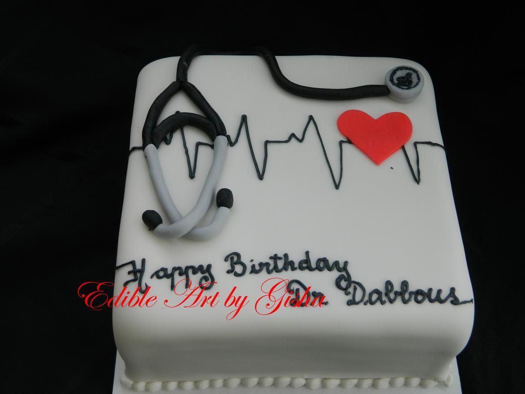 Marvelous Heart Doctors Cake With Images Doctor Cake Doctor Birthday Funny Birthday Cards Online Chimdamsfinfo