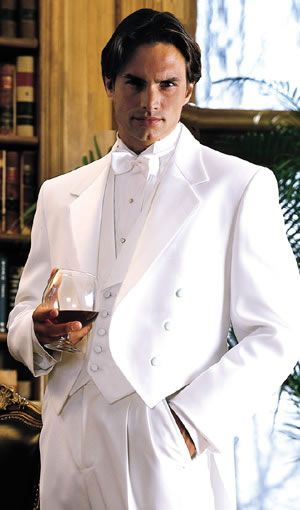 98e0aa7e6ff Mens White Tails Tuxedo Microfiber Full Dress Tailcoat in White in ...