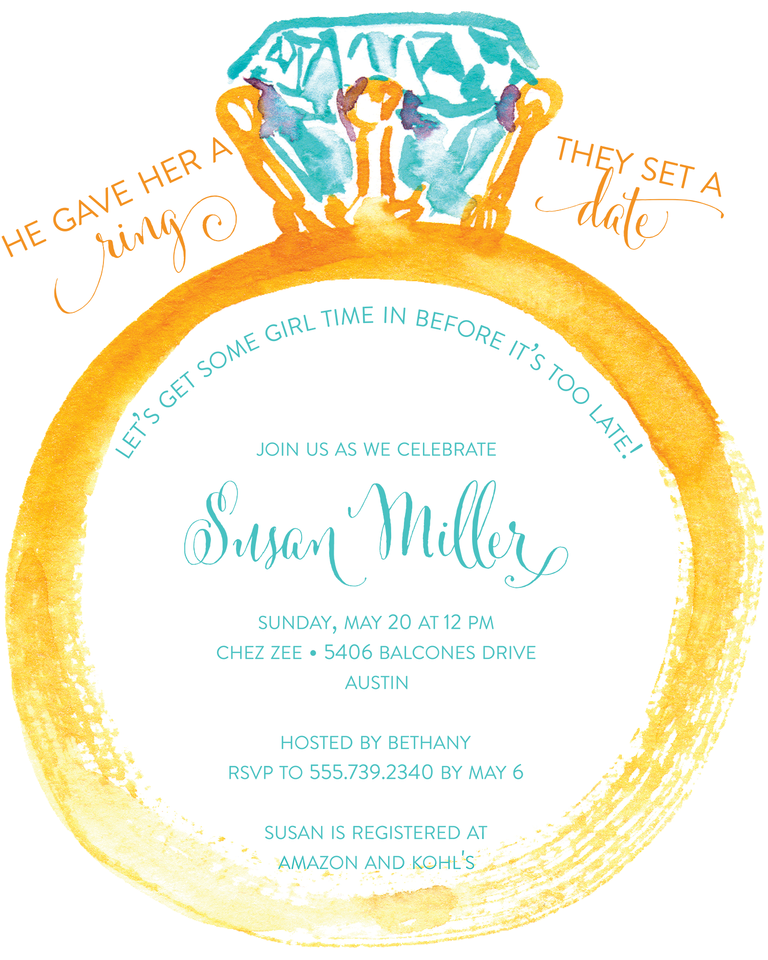 Funny Bridal Shower Invitation Wording