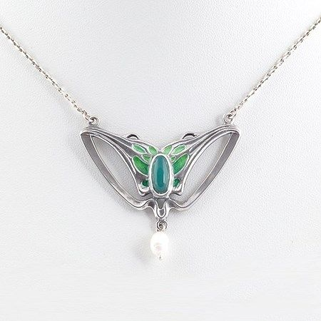 Art Nouveau Collier Caressa. Verkrijgbaar bij artdecowebwinkel.com. - Art Nouveau Necklace Caressa. Available at artdecowebstore.com.