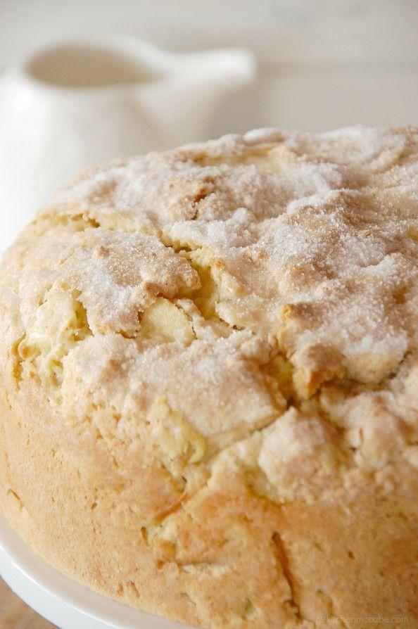 Irish Apple Cake With Custard Sauce - DustJacket Attic
