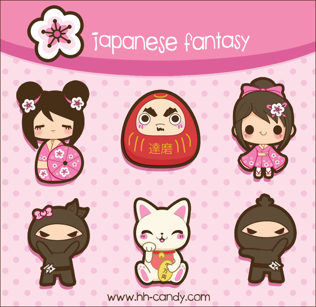 Japanese Fantasy Designs by A-Little-Kitty.deviantart.com on @deviantART