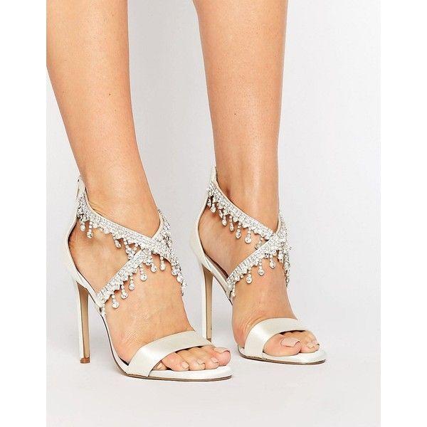 Scarpe Sposa Tacco 70.Asos Hattie Embellished Bridal Heeled Sandals 70 Liked On