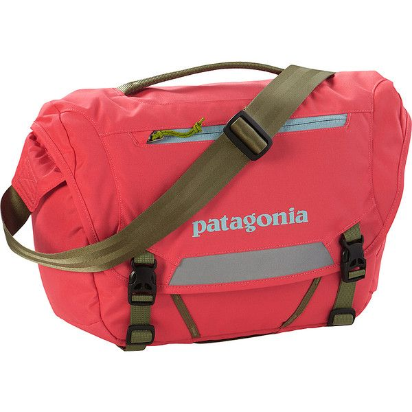 Patagonia Mini Messenger (120 NZD) ❤ liked on Polyvore featuring bags, messenger bags, pink, zipper messenger bag, messenger bag, lightweight messenger bag, laptop bag and patagonia messenger bag