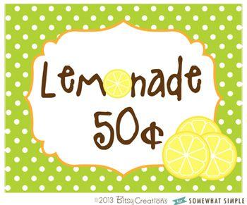 picture regarding Lemonade Sign Printable identified as How toward Generate a Lemonade Stand + No cost Printables lemonade