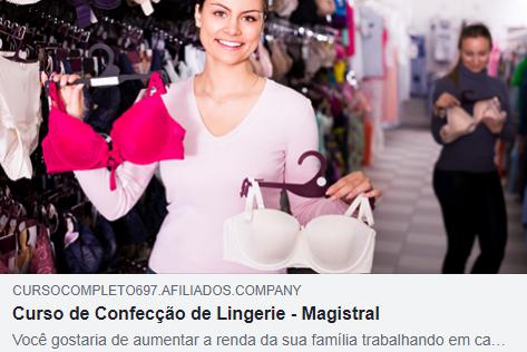 14409beaa Aprenda como confeccionar lingeries O Curso de Confecção de Lingerie da  Magistral foi criado e desenvolvido