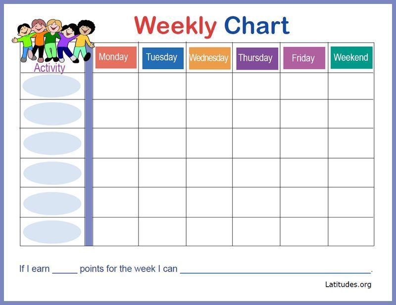Happy kids weekly behavior chart border also free hadley pinterest rh