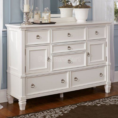 Now Cottage Style White Pice Bedroom Dresser Furniture