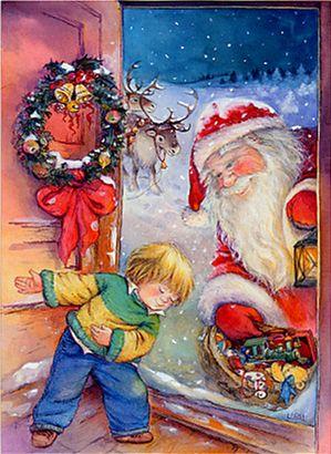 Babbo Natale In Spagnolo.Lisi Martin Illustratrice Spagnola Natale Immagini Di