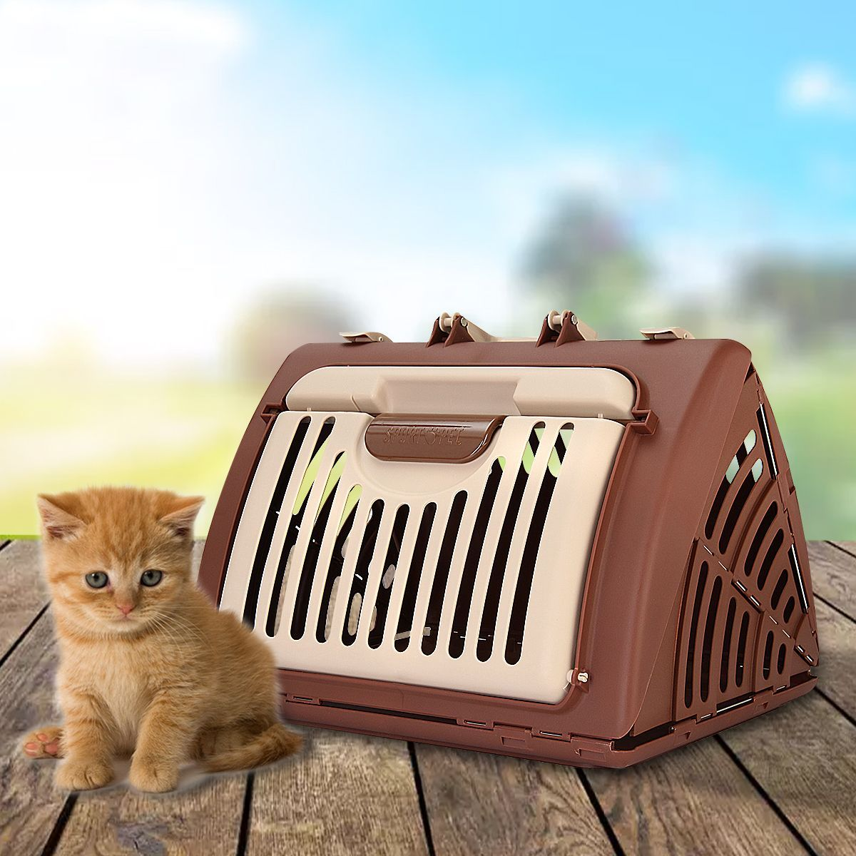 Dog Crate Hard Sided Pet Carrier Foldable Training Kennel Portable Cage House Petcarriers Dog Crate Pet Carriers Cat Pet Supplies