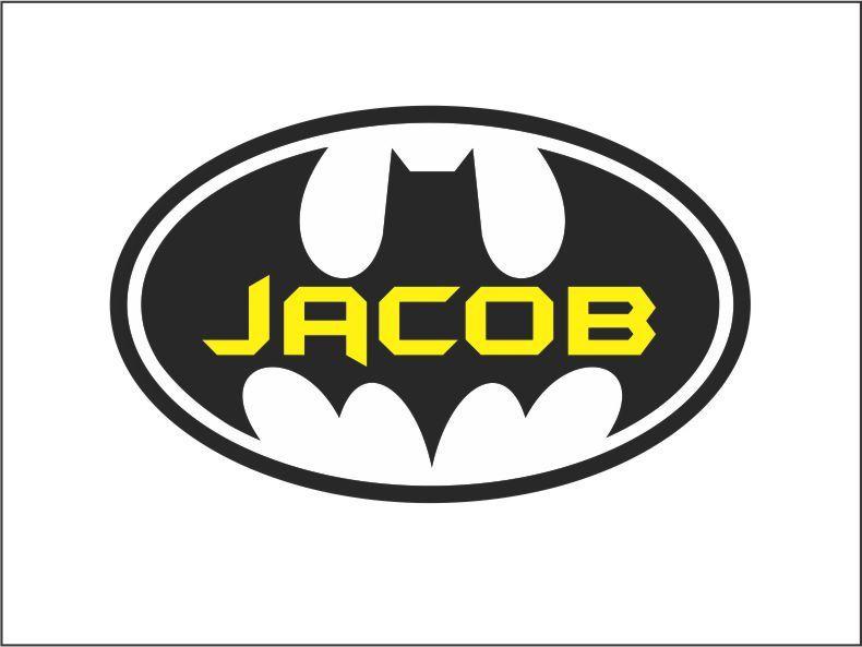 Batman Wall Decal Boy Name Bedroom Vinyl Lettering Decor