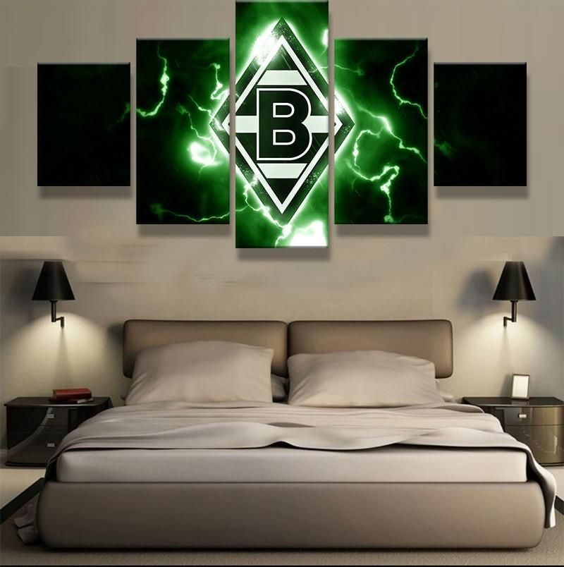 5 Panel Vfl Borussia Monchengladbach Sports Football Oil Painting On Canvas Modern Home Living Room Deco Fans Posters Bedroom In 2021 Canvas Home Bedroom Posters Canvas Art Wall Decor