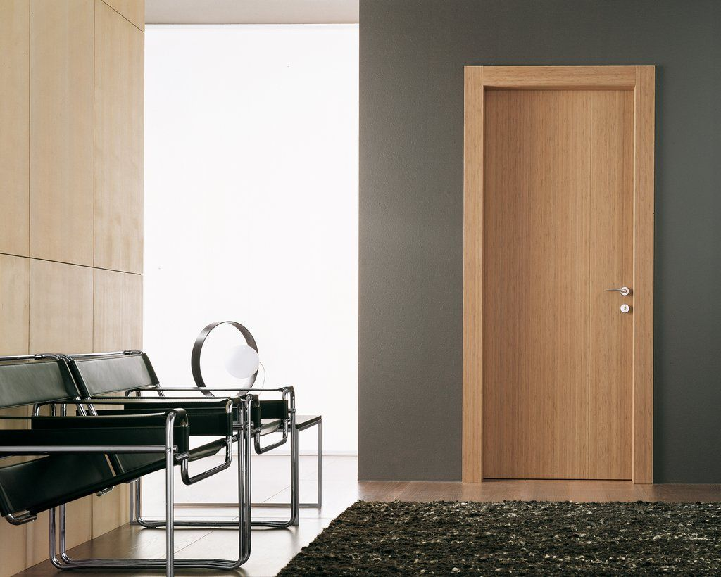 Modern door casing styles bamboo hinged swing door for Modern interior doors