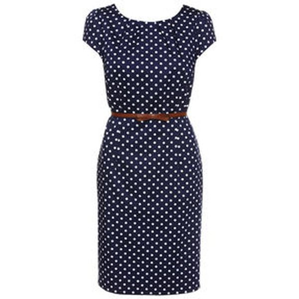 Comma kleid grey dots
