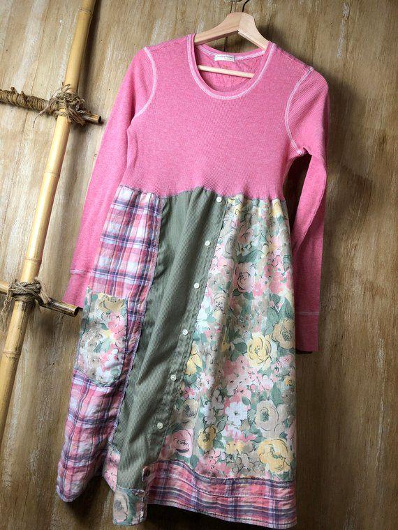 1f84f1c5326b Women s Upcycled Summer Dress Tunic Refashioned Clothing