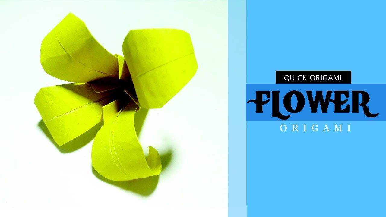 How To Make A Paper Lily Flower For Kidsorigami Lily Flower