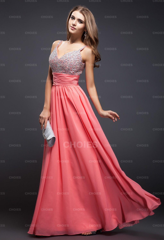 pink dress # evening dress #formal dress | Vestidos noche ...