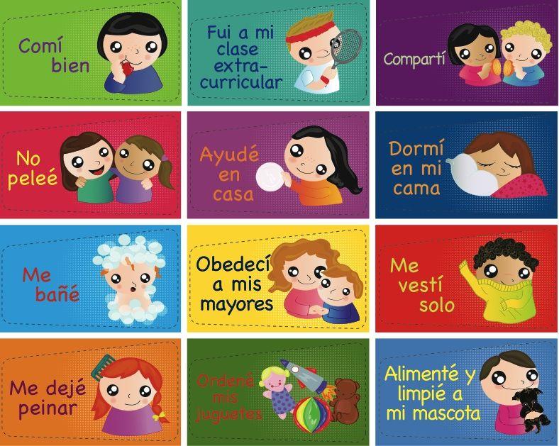 Cuadro De Logros Veoveo Responsabilidad Para Ninos