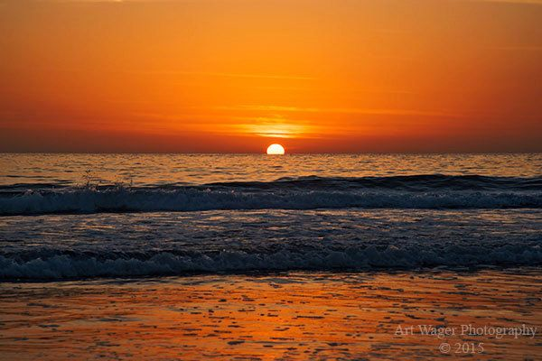 Simple but Brilliant Ocean Sunset Fine Art Photograph by ArtWagerPhotos on Etsy
