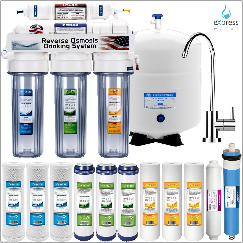 5 Stage Home Drinking Reverse Osmosis System Plus Extra 7 Express Water Filters Reverse Osmosis Water Filter Best Reverse Osmosis System Osmosis Water Filter