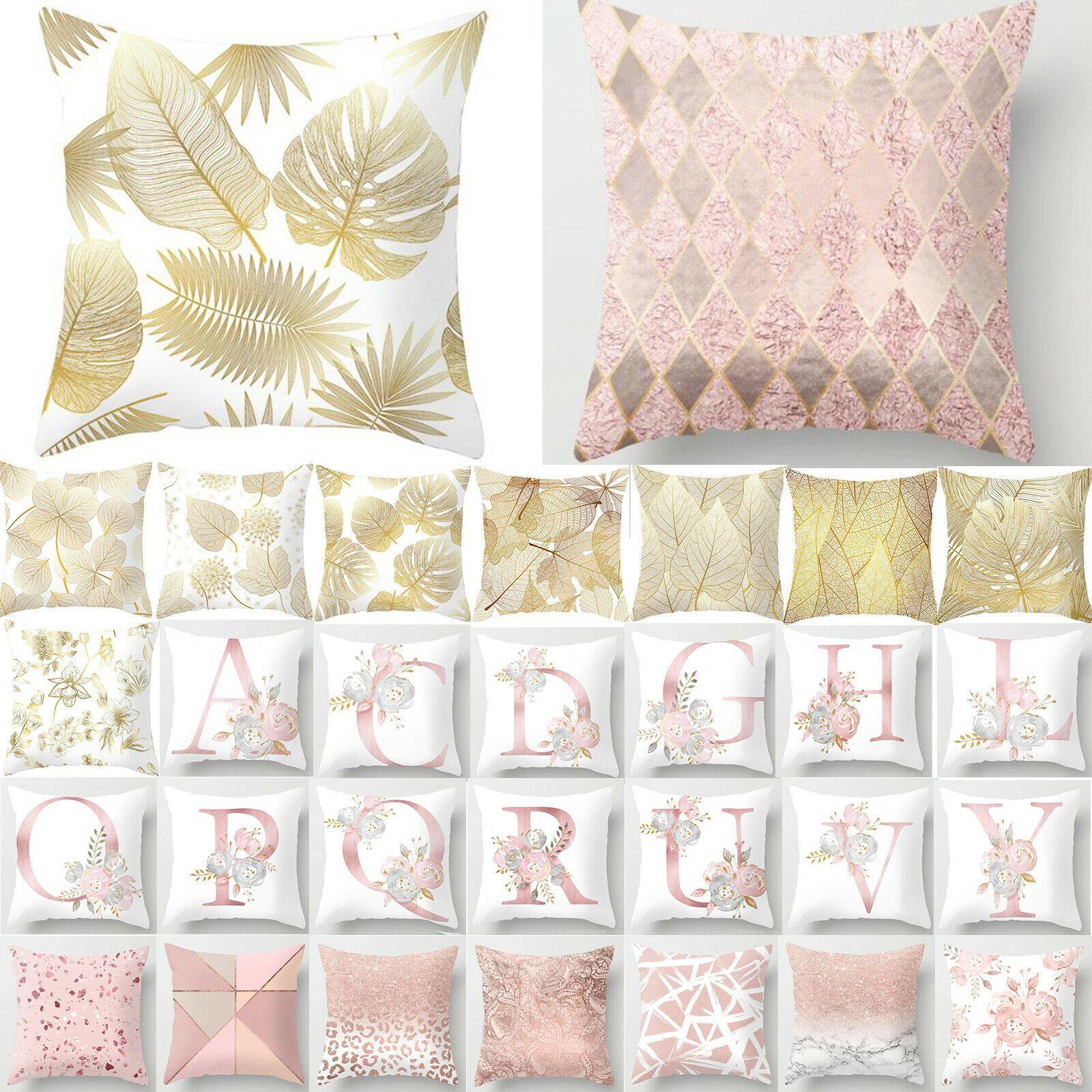 Pink Gold Throw Cushion Cover Pillowcase Home Decor Sofa Car Waist Pillow Case Sofa Cushions Ideas Of Sofa In 2020 Cushions On Sofa Sofa Throw Pillows Floral Sofa