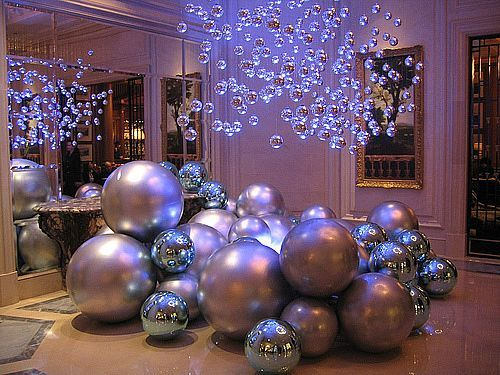 Giant Baubles Christmas Decor Amazing For Big Parties Elegant Christmas Church Christmas Decorations Outdoor Christmas Decorations